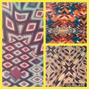 LulaRoe TC Tall and Curvy Aztec Leggings 3 Pack